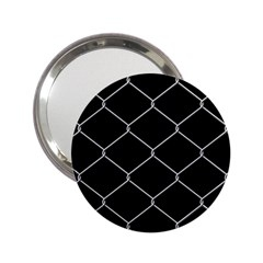 Iron Wire White Black 2.25  Handbag Mirrors