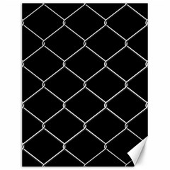 Iron Wire White Black Canvas 12  x 16