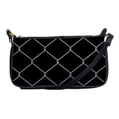 Iron Wire White Black Shoulder Clutch Bags