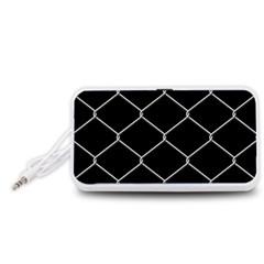 Iron Wire White Black Portable Speaker (White)