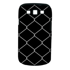 Iron Wire White Black Samsung Galaxy S III Classic Hardshell Case (PC+Silicone)