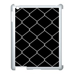 Iron Wire White Black Apple iPad 3/4 Case (White)