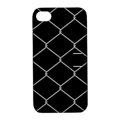 Iron Wire White Black Apple iPhone 4/4S Hardshell Case with Stand