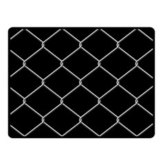 Iron Wire White Black Double Sided Fleece Blanket (Small)