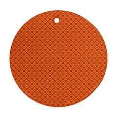 Heart Orange Love Ornament (Round)