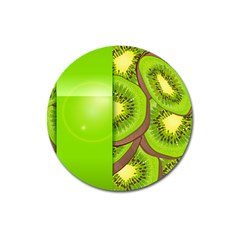 Fruit Slice Kiwi Green Magnet 3  (Round)