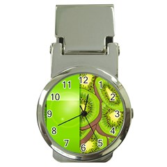 Fruit Slice Kiwi Green Money Clip Watches