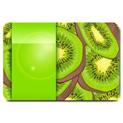 Fruit Slice Kiwi Green Large Doormat