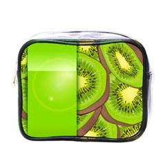 Fruit Slice Kiwi Green Mini Toiletries Bags
