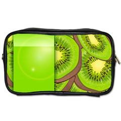 Fruit Slice Kiwi Green Toiletries Bags