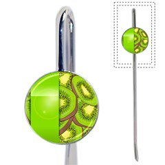 Fruit Slice Kiwi Green Book Mark