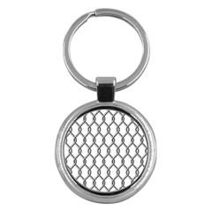 Iron Wire Black White Key Chains (Round)