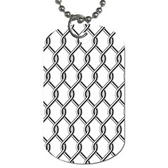 Iron Wire Black White Dog Tag (One Side)