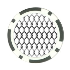 Iron Wire Black White Poker Chip Card Guard