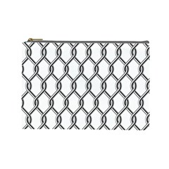 Iron Wire Black White Cosmetic Bag (large)