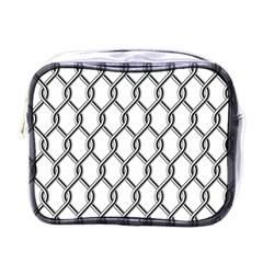 Iron Wire Black White Mini Toiletries Bags