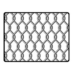 Iron Wire Black White Fleece Blanket (Small)