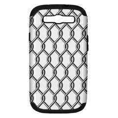 Iron Wire Black White Samsung Galaxy S III Hardshell Case (PC+Silicone)