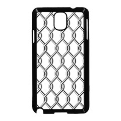 Iron Wire Black White Samsung Galaxy Note 3 Neo Hardshell Case (Black)