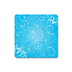 Leaf Blue Snow Circle Polka Star Square Magnet