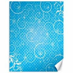Leaf Blue Snow Circle Polka Star Canvas 18  x 24