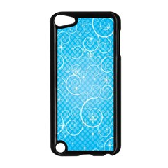 Leaf Blue Snow Circle Polka Star Apple iPod Touch 5 Case (Black)