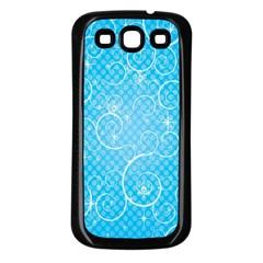 Leaf Blue Snow Circle Polka Star Samsung Galaxy S3 Back Case (Black)