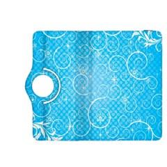 Leaf Blue Snow Circle Polka Star Kindle Fire Hdx 8 9  Flip 360 Case