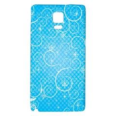 Leaf Blue Snow Circle Polka Star Galaxy Note 4 Back Case