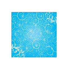 Leaf Blue Snow Circle Polka Star Satin Bandana Scarf