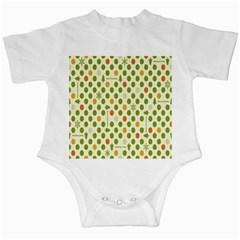 Merry Christmas Polka Dot Circle Snow Tree Green Orange Red Gray Infant Creepers