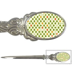 Merry Christmas Polka Dot Circle Snow Tree Green Orange Red Gray Letter Openers