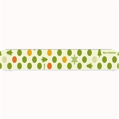 Merry Christmas Polka Dot Circle Snow Tree Green Orange Red Gray Small Bar Mats