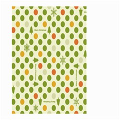Merry Christmas Polka Dot Circle Snow Tree Green Orange Red Gray Small Garden Flag (Two Sides)