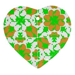 Graphic Floral Seamless Pattern Mosaic Ornament (Heart)