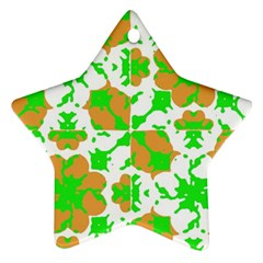 Graphic Floral Seamless Pattern Mosaic Ornament (Star)