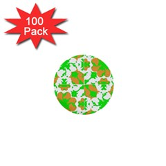 Graphic Floral Seamless Pattern Mosaic 1  Mini Buttons (100 pack)