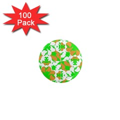 Graphic Floral Seamless Pattern Mosaic 1  Mini Magnets (100 pack)