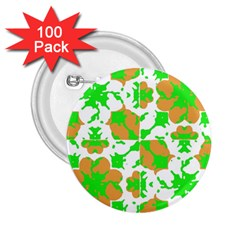Graphic Floral Seamless Pattern Mosaic 2.25  Buttons (100 pack)