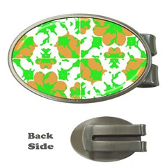 Graphic Floral Seamless Pattern Mosaic Money Clips (Oval)