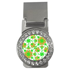 Graphic Floral Seamless Pattern Mosaic Money Clips (CZ)