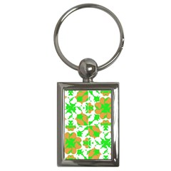 Graphic Floral Seamless Pattern Mosaic Key Chains (Rectangle)