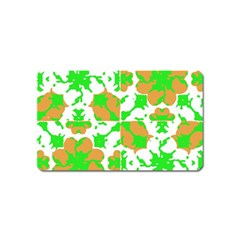 Graphic Floral Seamless Pattern Mosaic Magnet (Name Card)