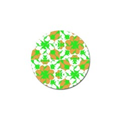 Graphic Floral Seamless Pattern Mosaic Golf Ball Marker