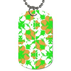 Graphic Floral Seamless Pattern Mosaic Dog Tag (Two Sides)