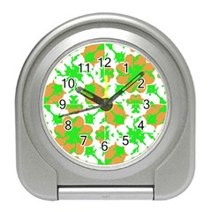 Graphic Floral Seamless Pattern Mosaic Travel Alarm Clocks