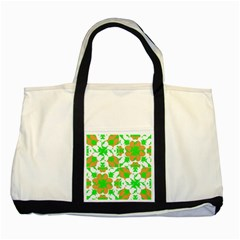 Graphic Floral Seamless Pattern Mosaic Two Tone Tote Bag