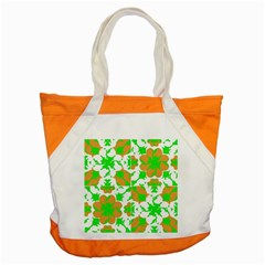 Graphic Floral Seamless Pattern Mosaic Accent Tote Bag