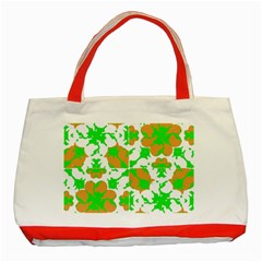 Graphic Floral Seamless Pattern Mosaic Classic Tote Bag (Red)