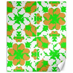 Graphic Floral Seamless Pattern Mosaic Canvas 8  x 10